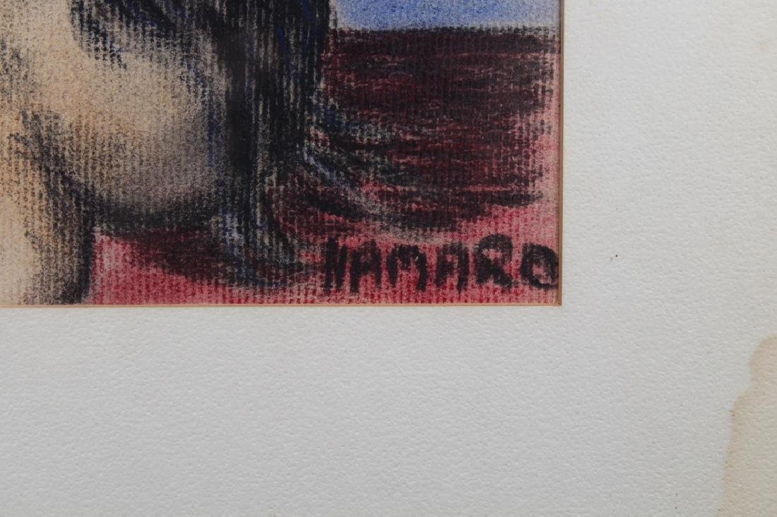 Namaro, Signed Mixed Media of a Nude Woman - 3