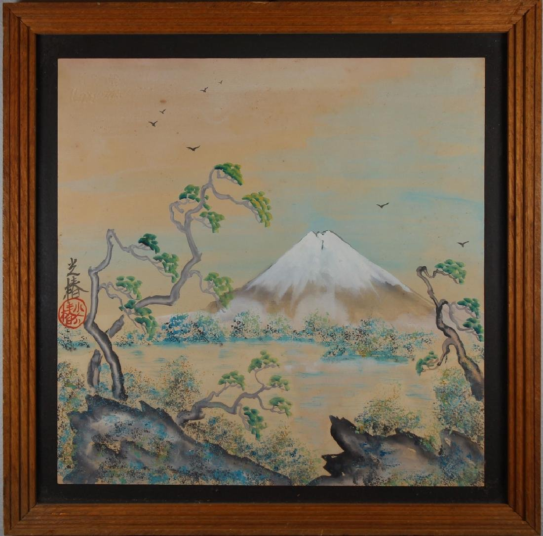 Japanese School Mixed Media of Mt. Fuji