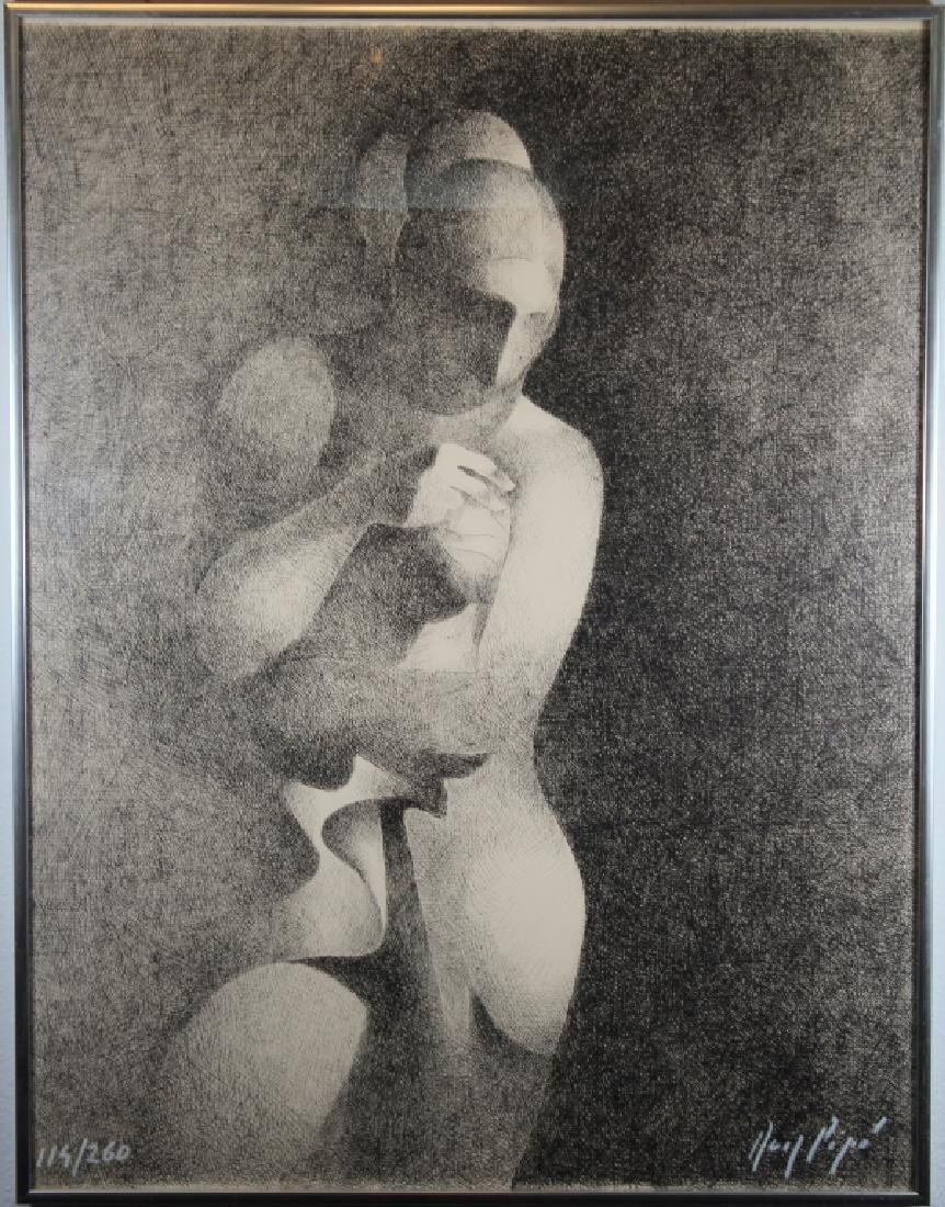 Vintage Abstract Nude Female Figure