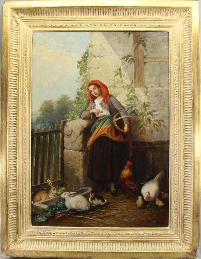 Franz de Beul (1849 - 1919) Feeding Time