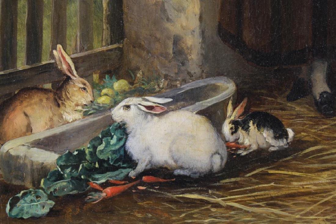 Franz de Beul (1849 - 1919) Feeding Time - 3