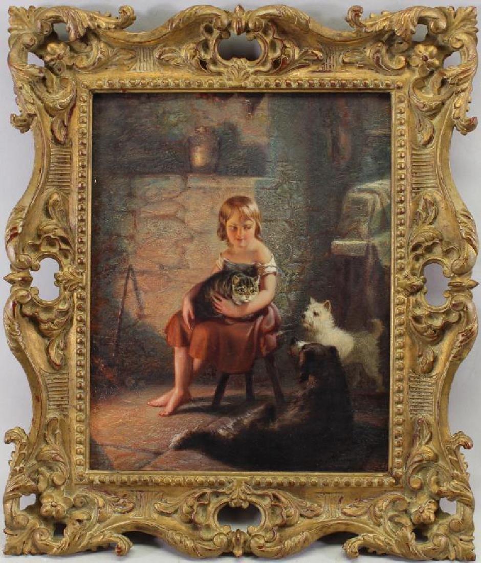 "Benjamin Reinhart (1829 - 1885) ""Kitty's Pets"""