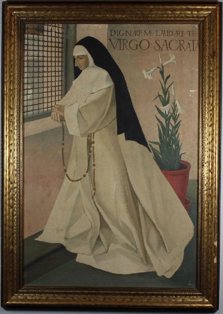 European School, Painting of a Woman in Prayer