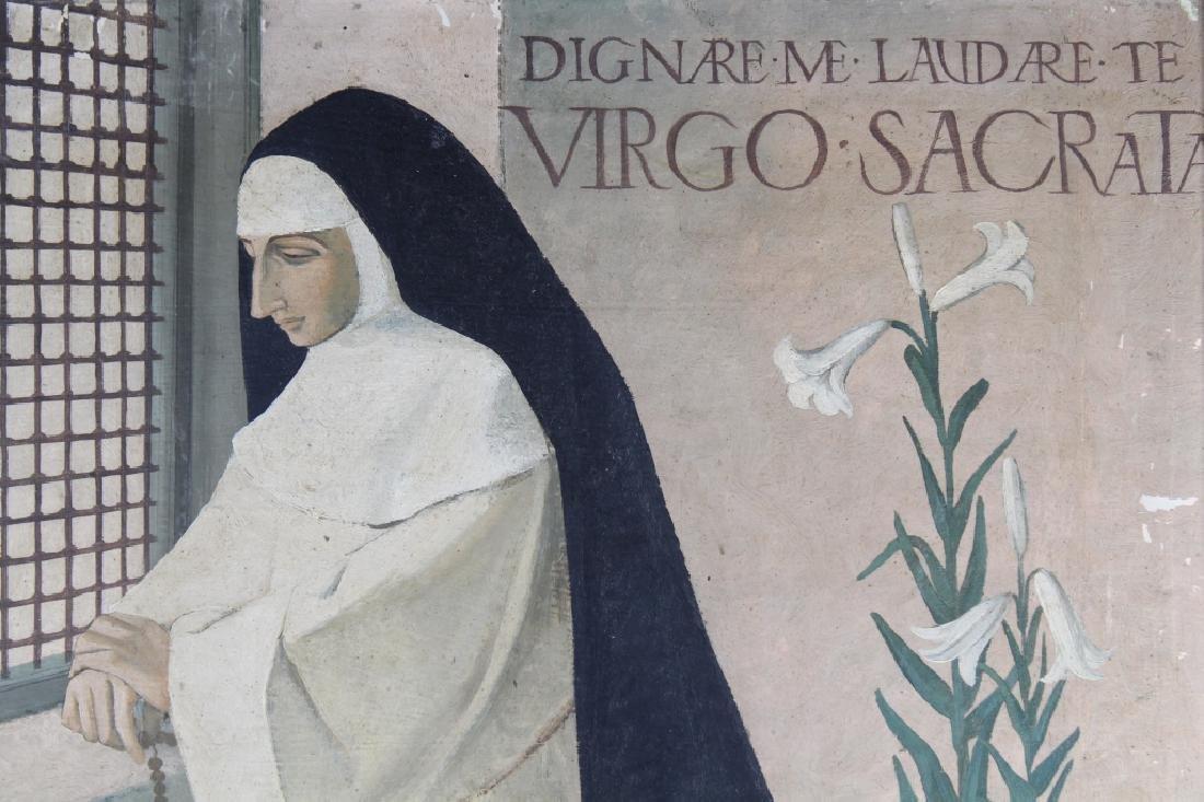 European School, Painting of a Woman in Prayer - 2