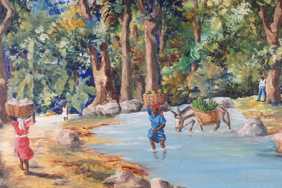 Ambroise, Painting of Haitian River with Figures - 2