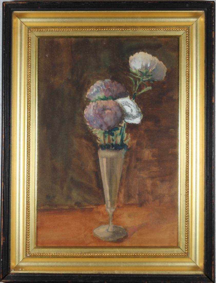 Signed, Antique Still Life Painting of Bouquet