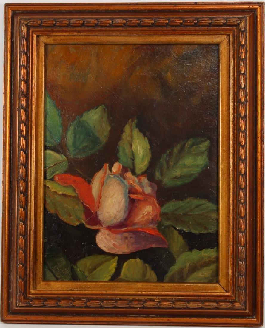 American School, Still Life Painting of Flowers