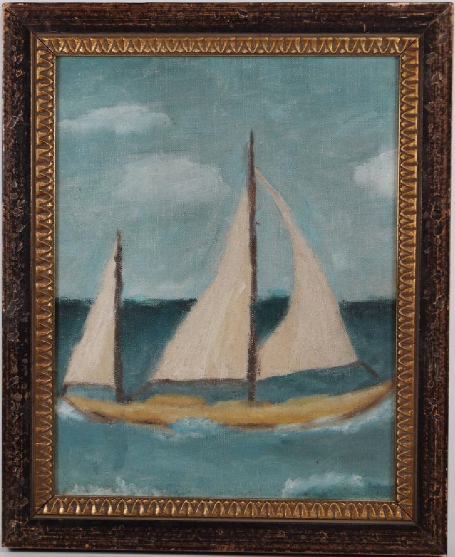 Manner of Edward Hopper, Sailboat Near Coast