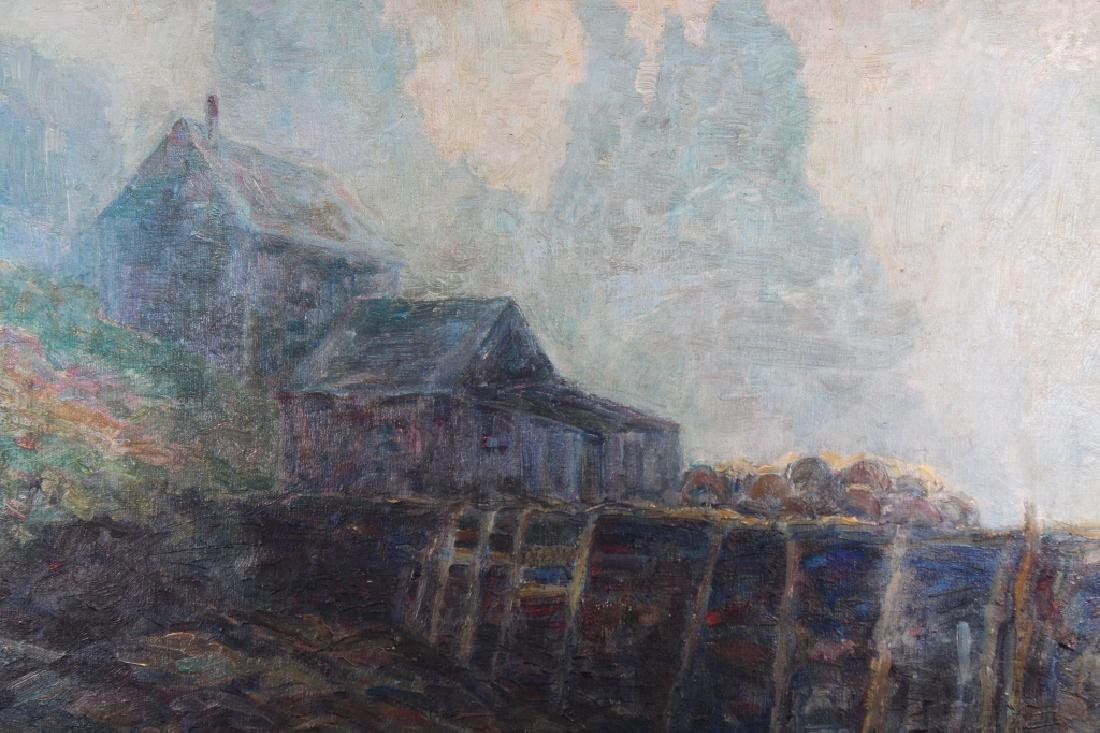 Early 20th C Impressionist Painting of House, Sgnd - 3