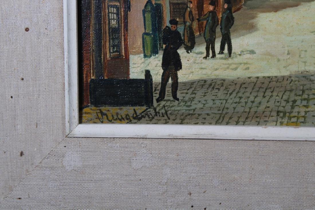 20th C. Dutch Village Scene, Signed - 3