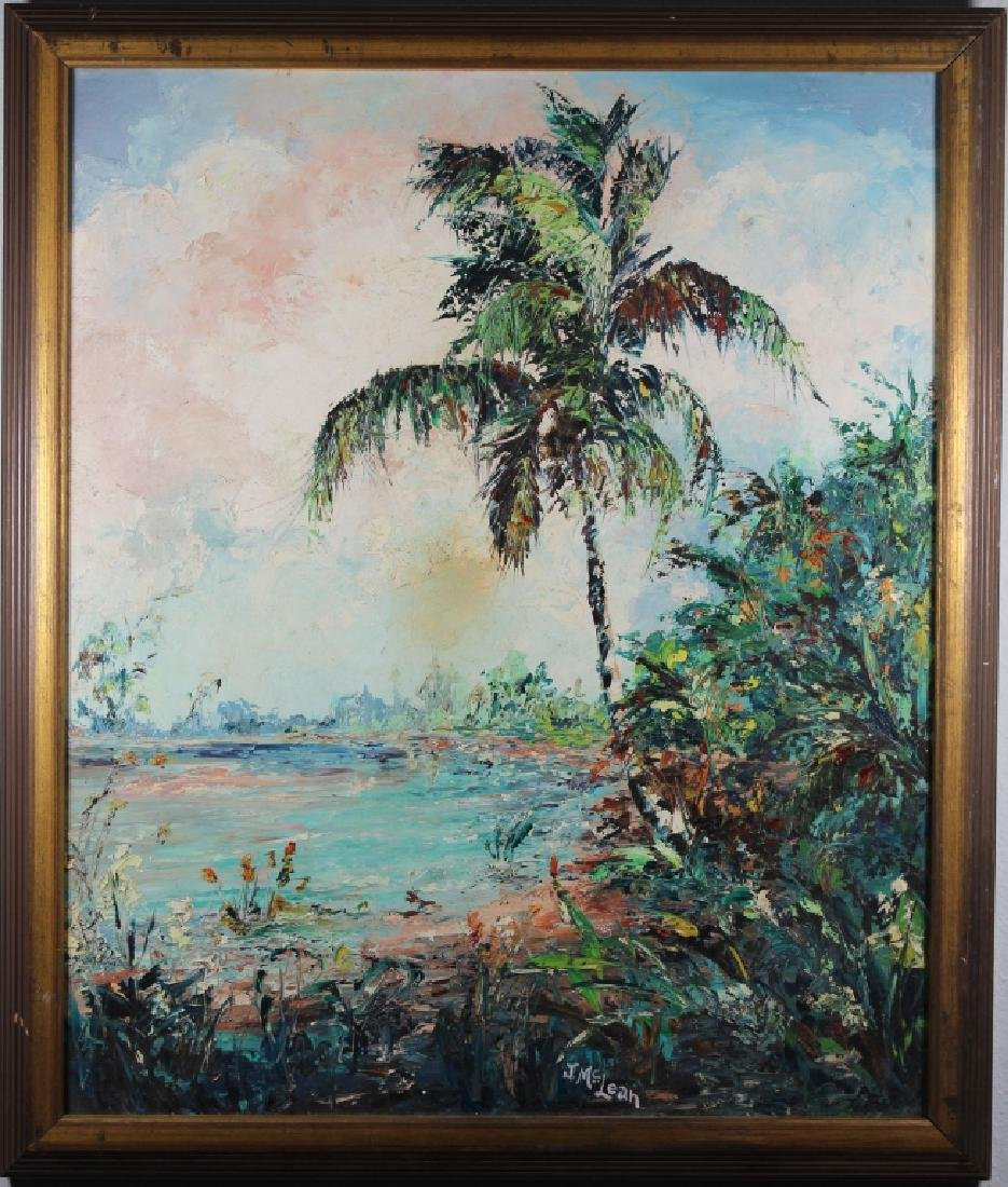J. McLean, Vintage Florida River Painting