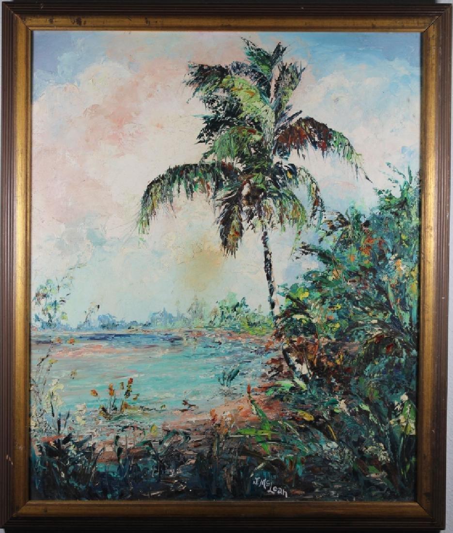 J. McLean, Vintage Florida River Painting