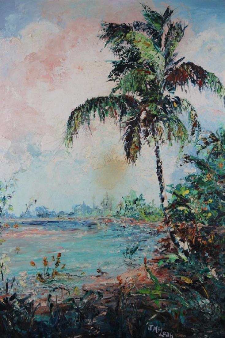 J. McLean, Vintage Florida River Painting - 2