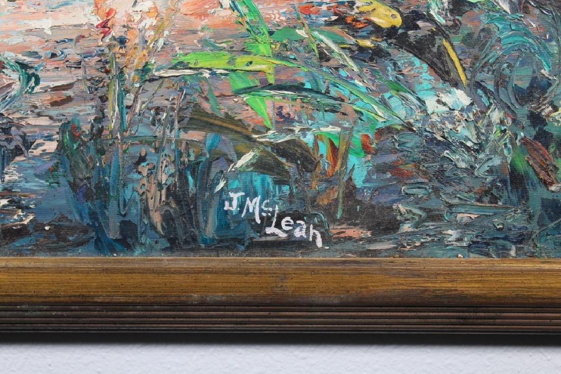J. McLean, Vintage Florida River Painting - 3