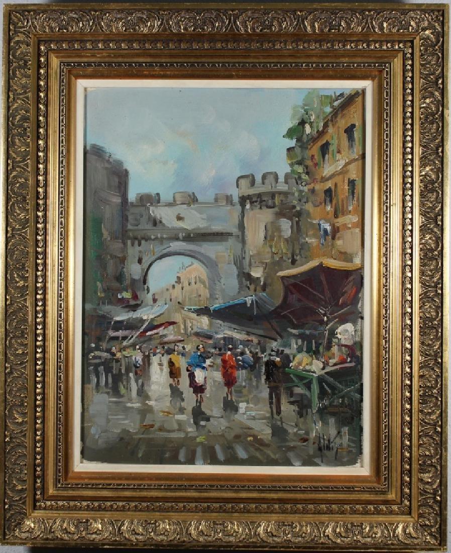Antonio DeVity (1901 - 1993) Paris Street Scene