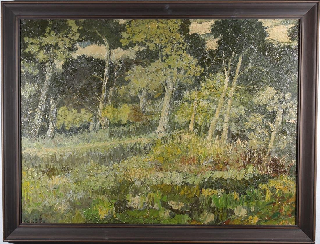 European School, Impressionist Wooded Landscape