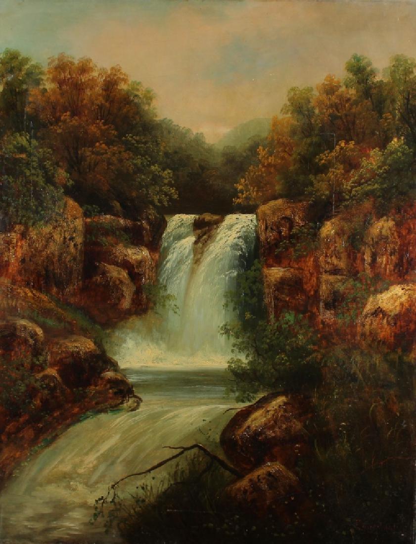 B. Muschamp Antique River Landscape