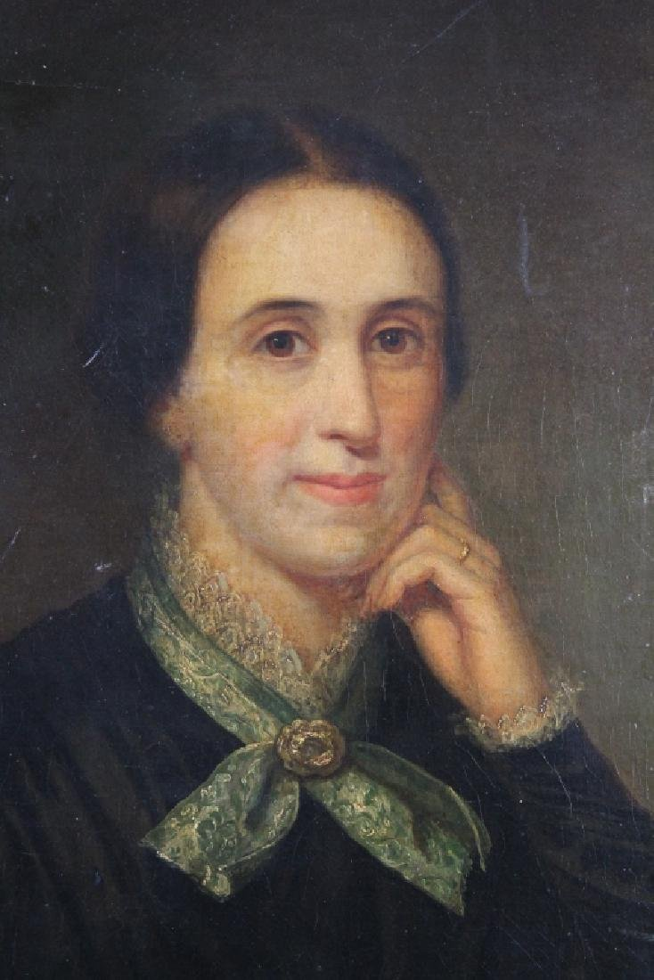 Antique English School Portrait of a Woman