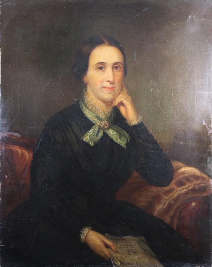 Antique English School Portrait of a Woman - 3