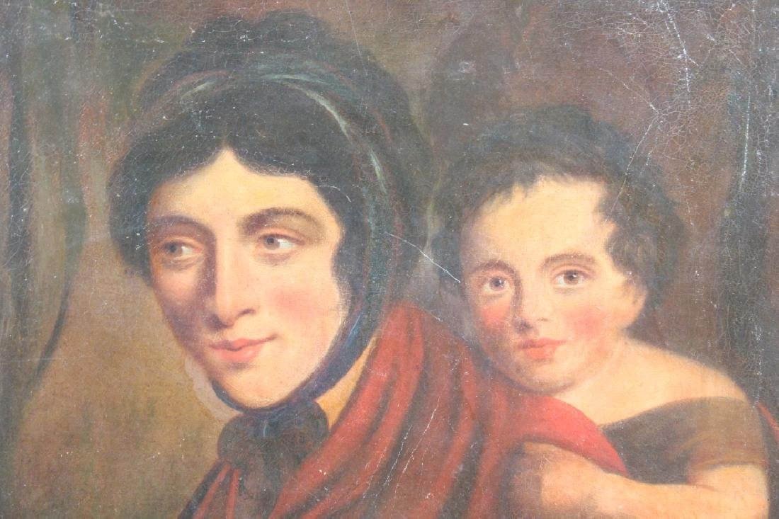 19th C. Painting, Mother & Child - 2