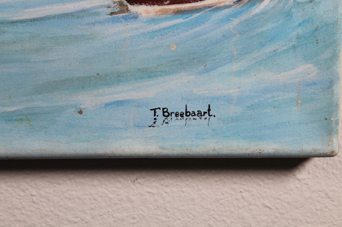 F. Breebaart, 20th C. Harbor Scene w/ Figures - 3