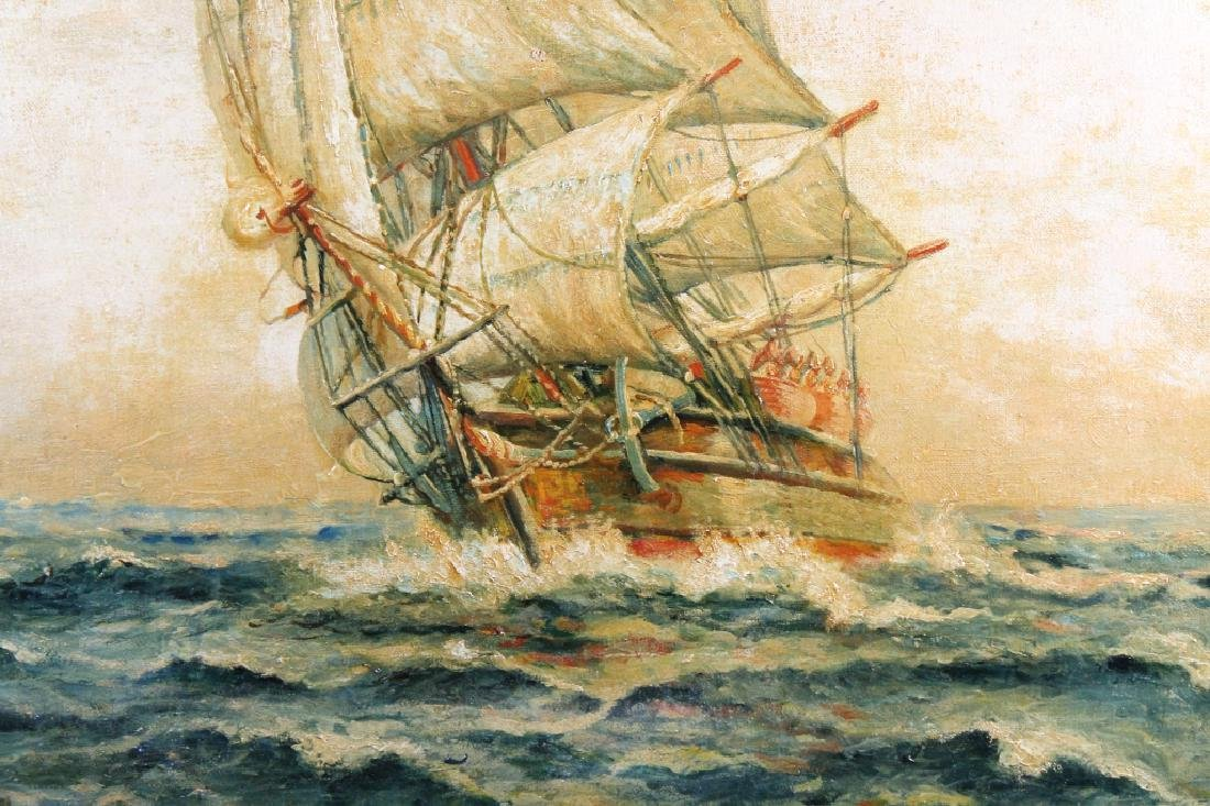 F. Falk, Antique Clipper Ship Painting - 2