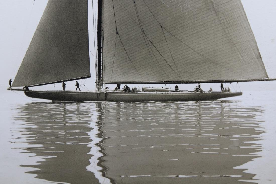 Framed Vintage Photograph of a Yacht - 2