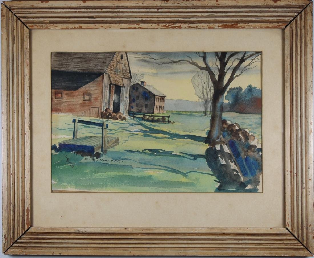Mackay, WPA Era Landscape with House