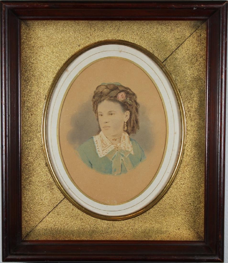 19th C. Portrait of a Young Girl