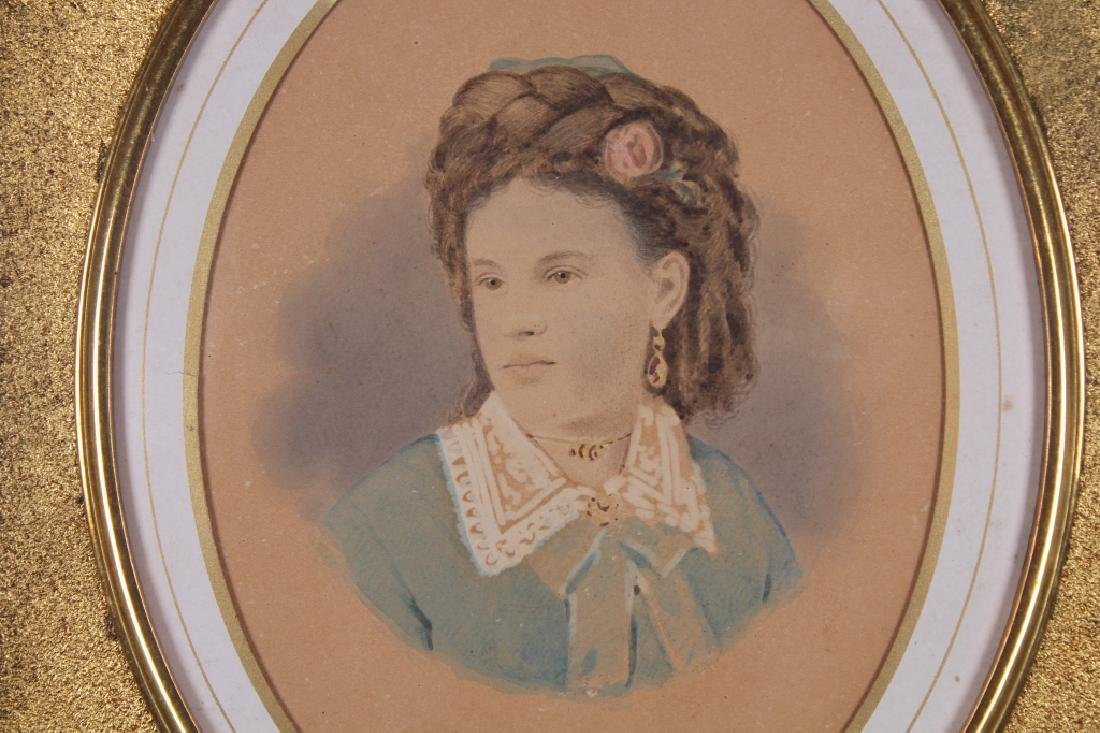 19th C. Portrait of a Young Girl - 2