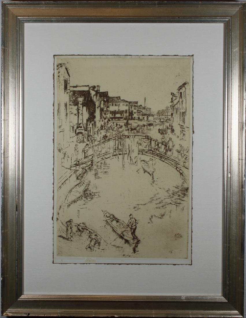 Photogravure of Whistler Etching