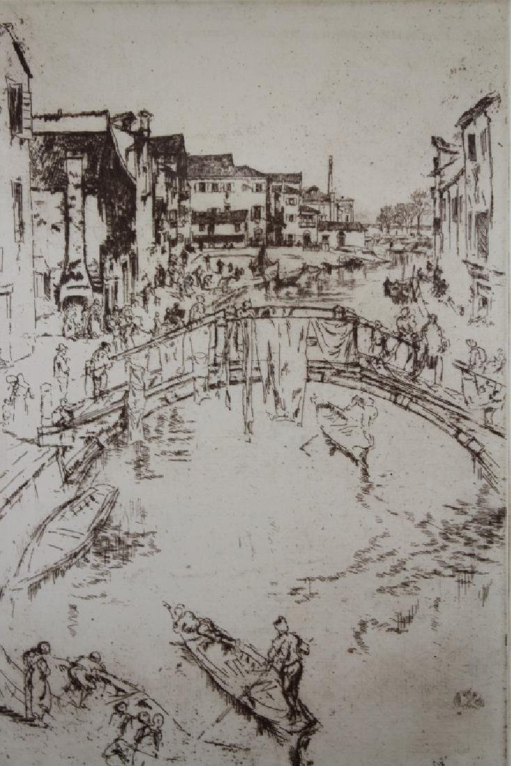 Photogravure of Whistler Etching - 2