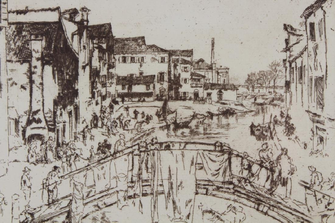 Photogravure of Whistler Etching - 3