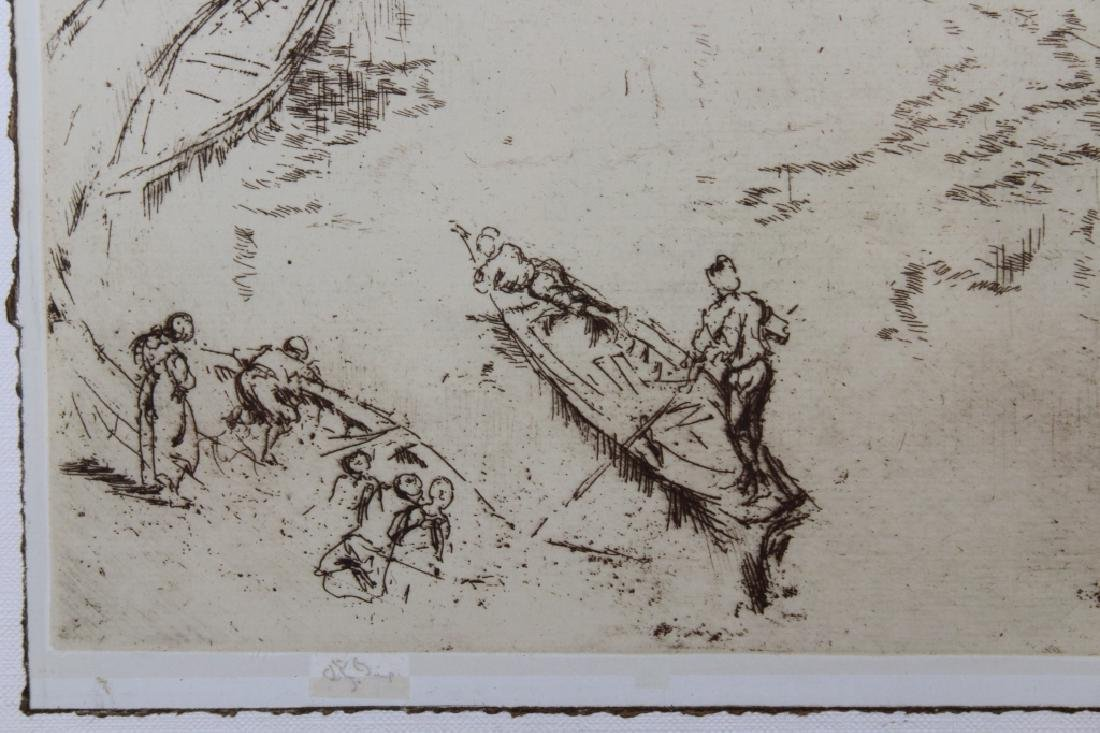 Photogravure of Whistler Etching - 4