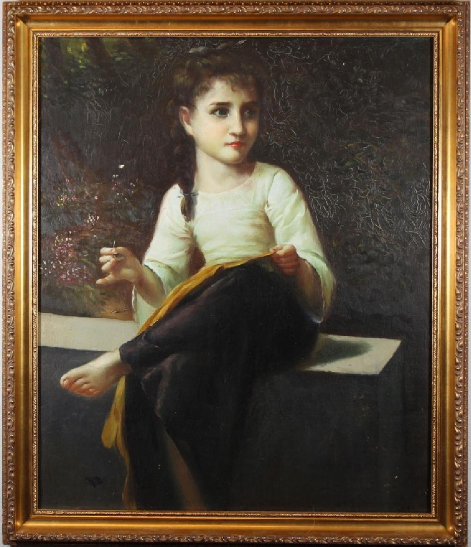 European School, Painting of a Young Girl
