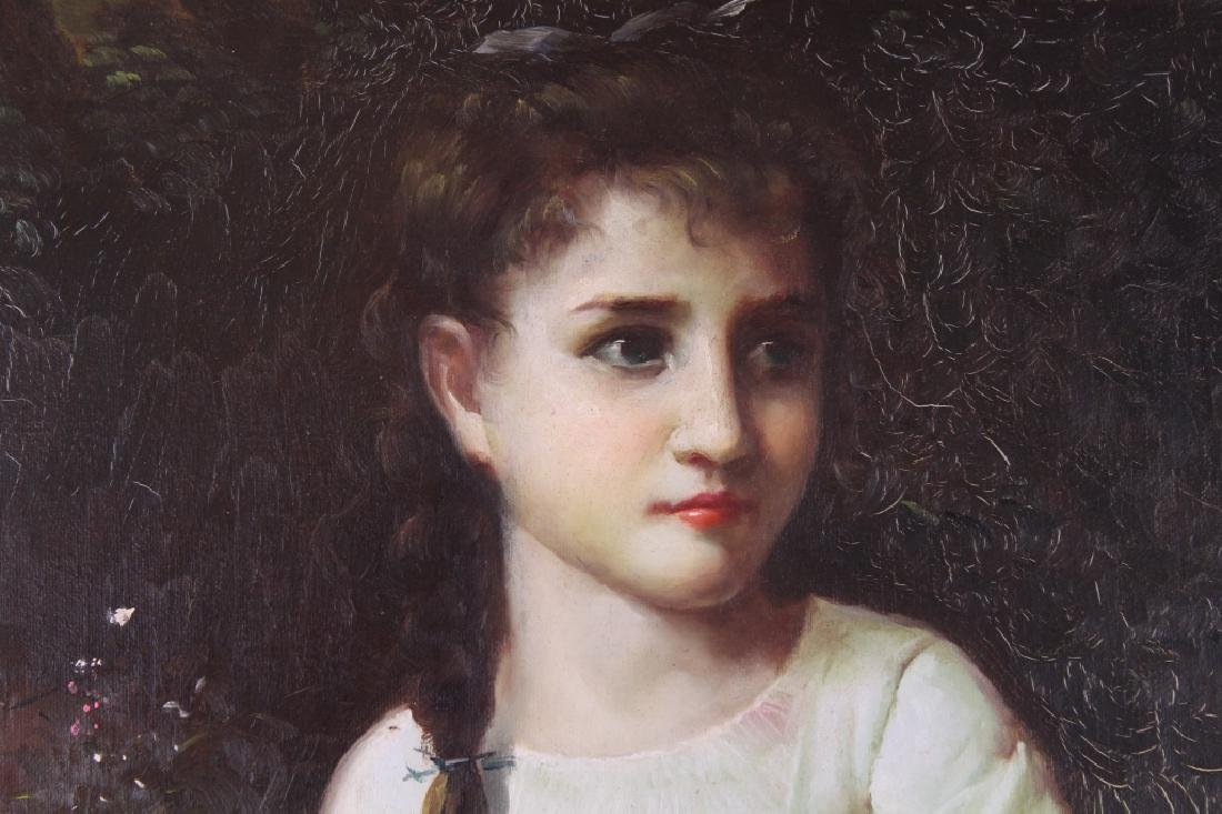 European School, Painting of a Young Girl - 2