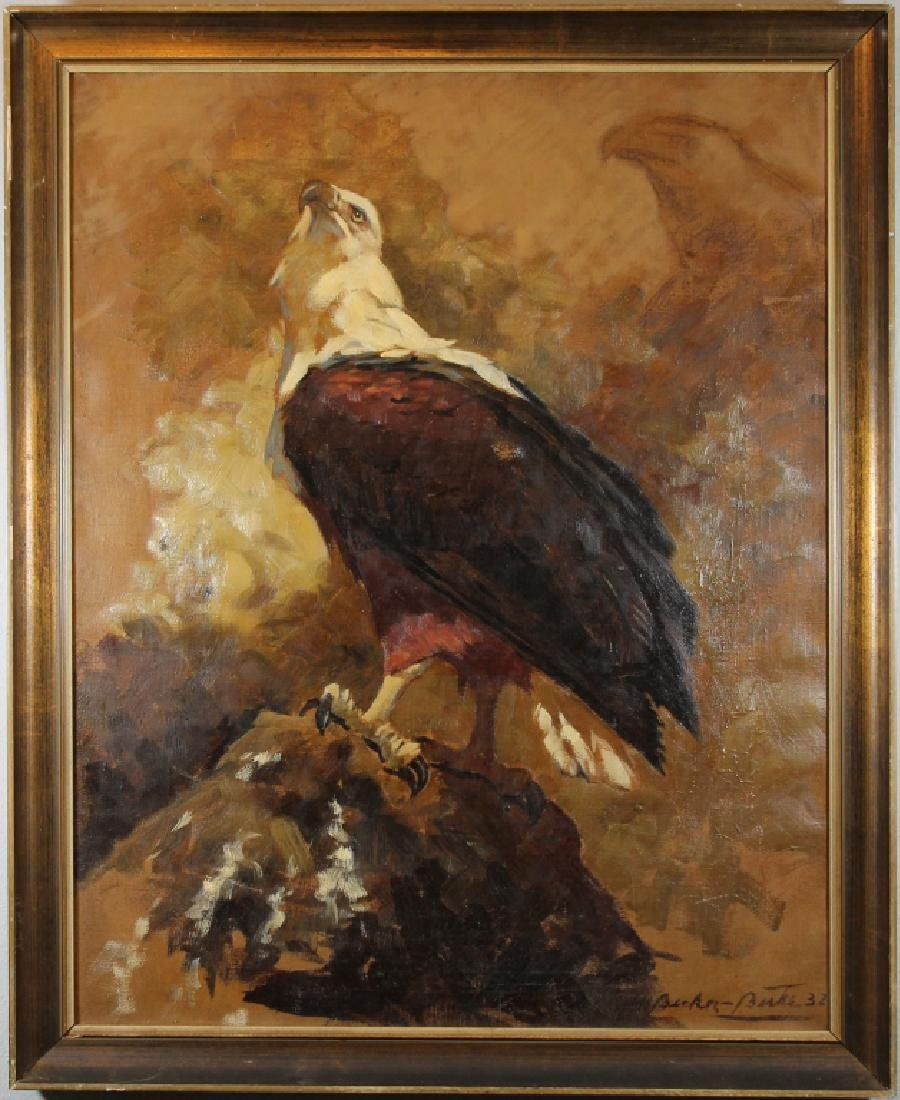 Signed, '32 Painting of a Bald Eagle
