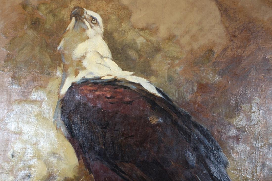 Signed, '32 Painting of a Bald Eagle - 3