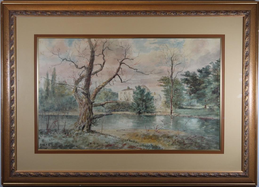Signed, Vintage Wooded River Landscape