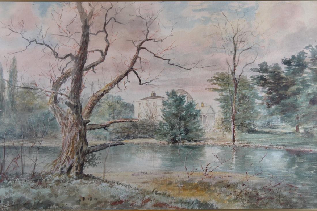 Signed, Vintage Wooded River Landscape - 2