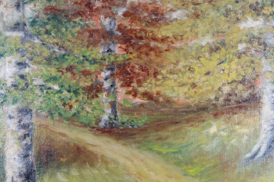 1926 Signed Painting of a Wooded Pathway - 2