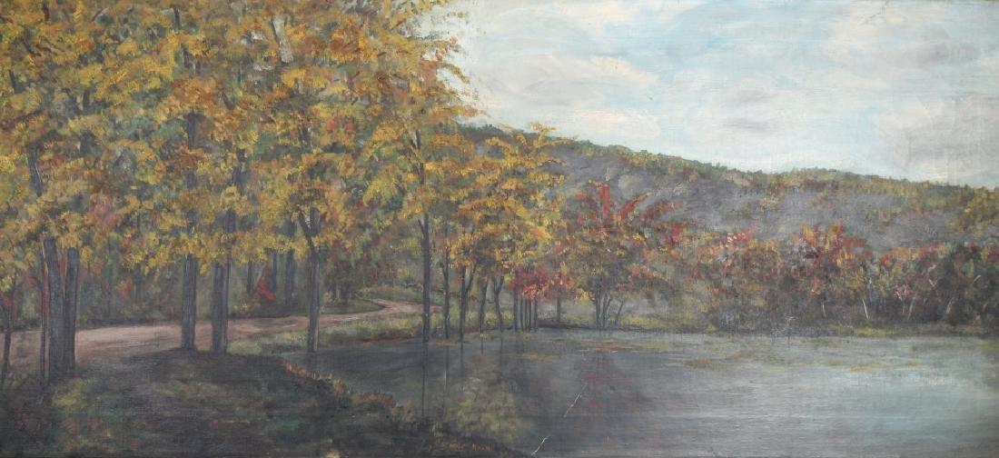 """Hightower, Signed Painting of """"Cathole Road"""""""