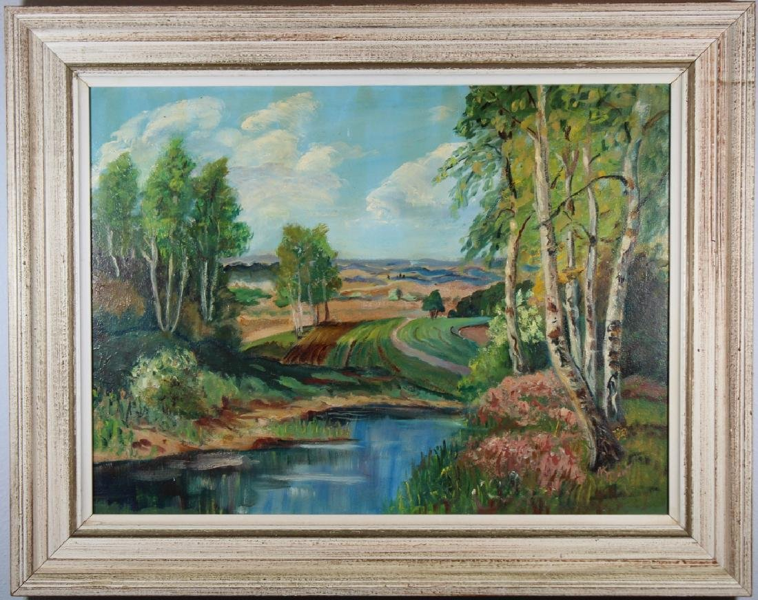 American School, Signed Landscape Painting