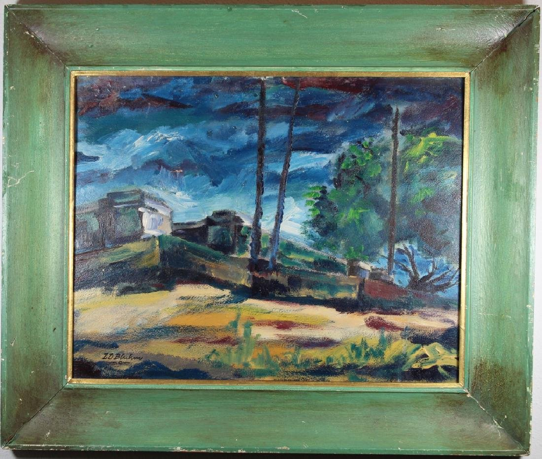 American School Vintage Wooded Landscape Painting