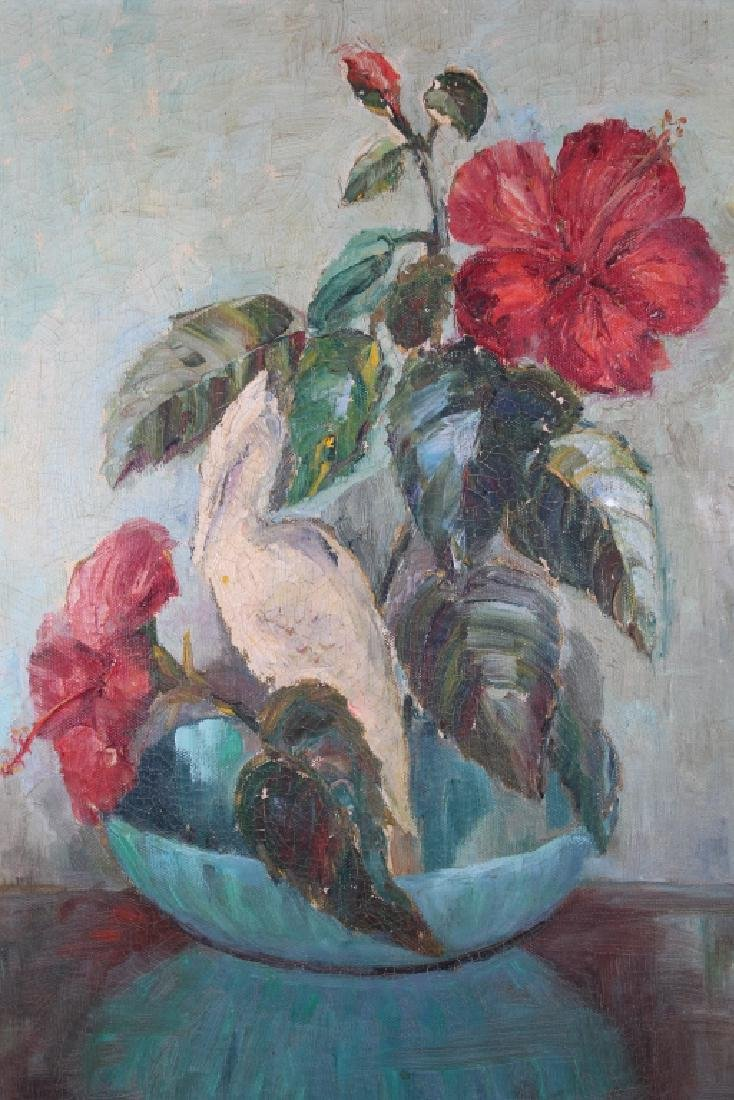 Mid 20th C Still Life Painting of a Flower Bouquet - 2