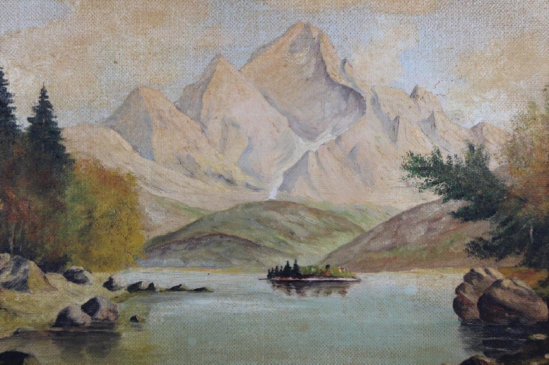 Vintage American School Mountain Landscape - 2