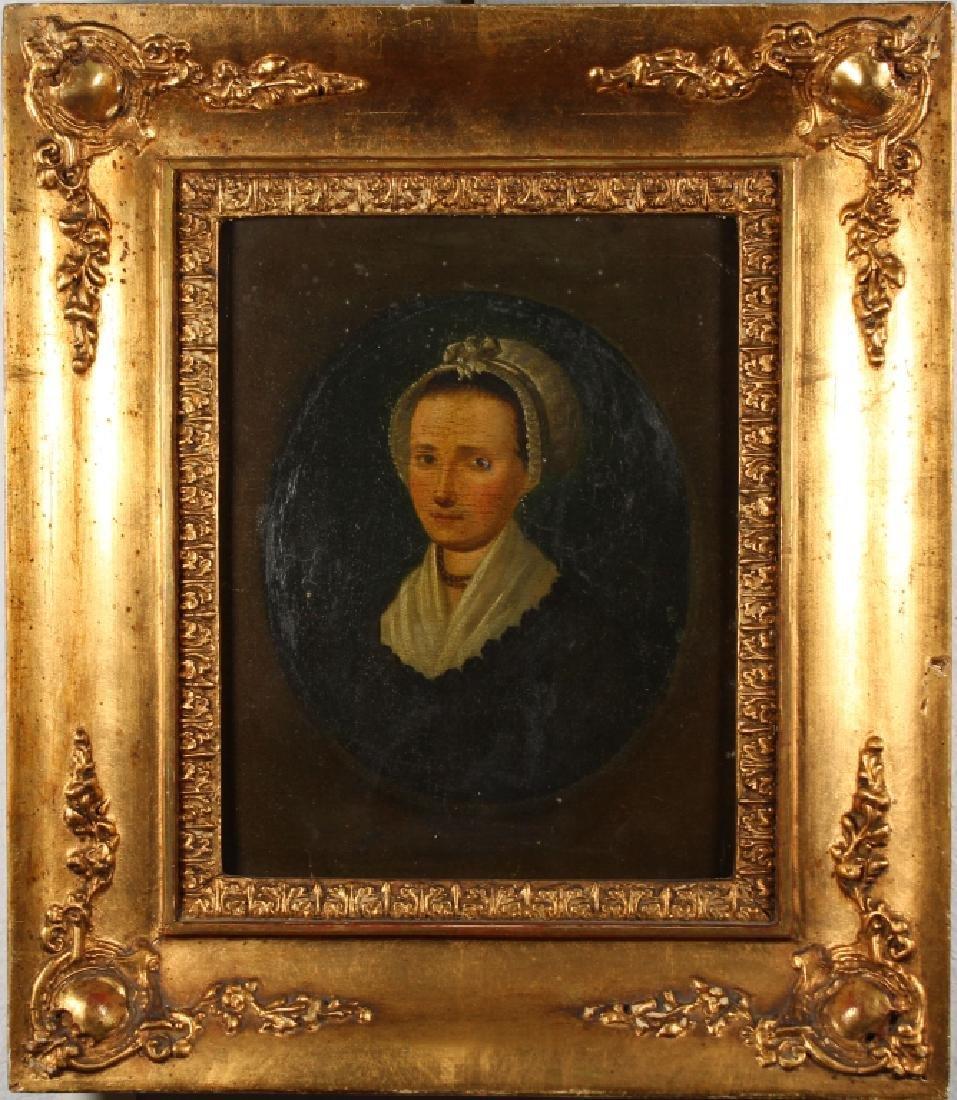 18th C. American School Portrait of a Woman
