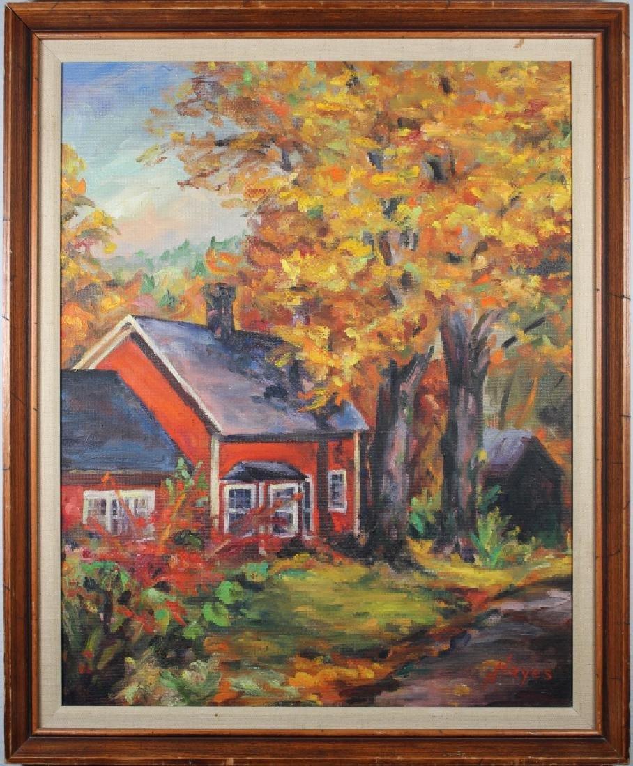 Hazel Barker Hayes (1894 - 1984) Brown County Ptg