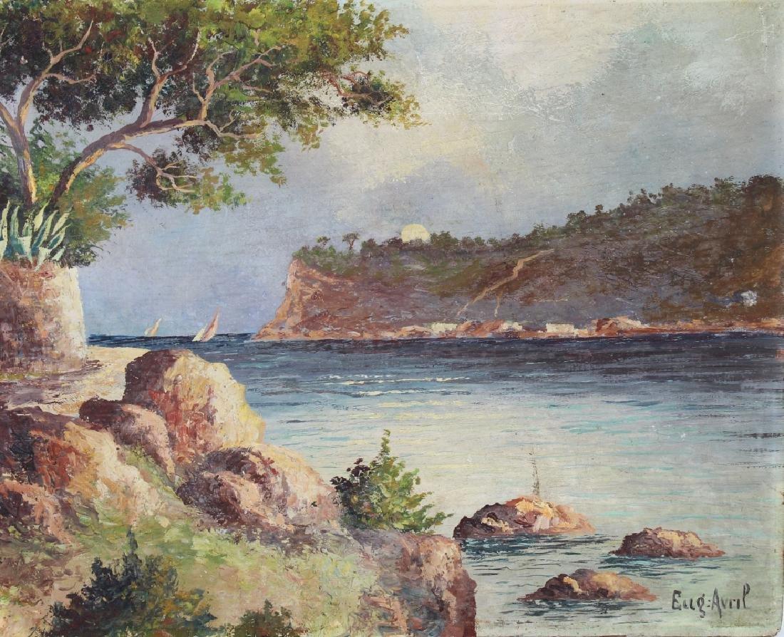 Avril, Signed New England Coastal Landscape
