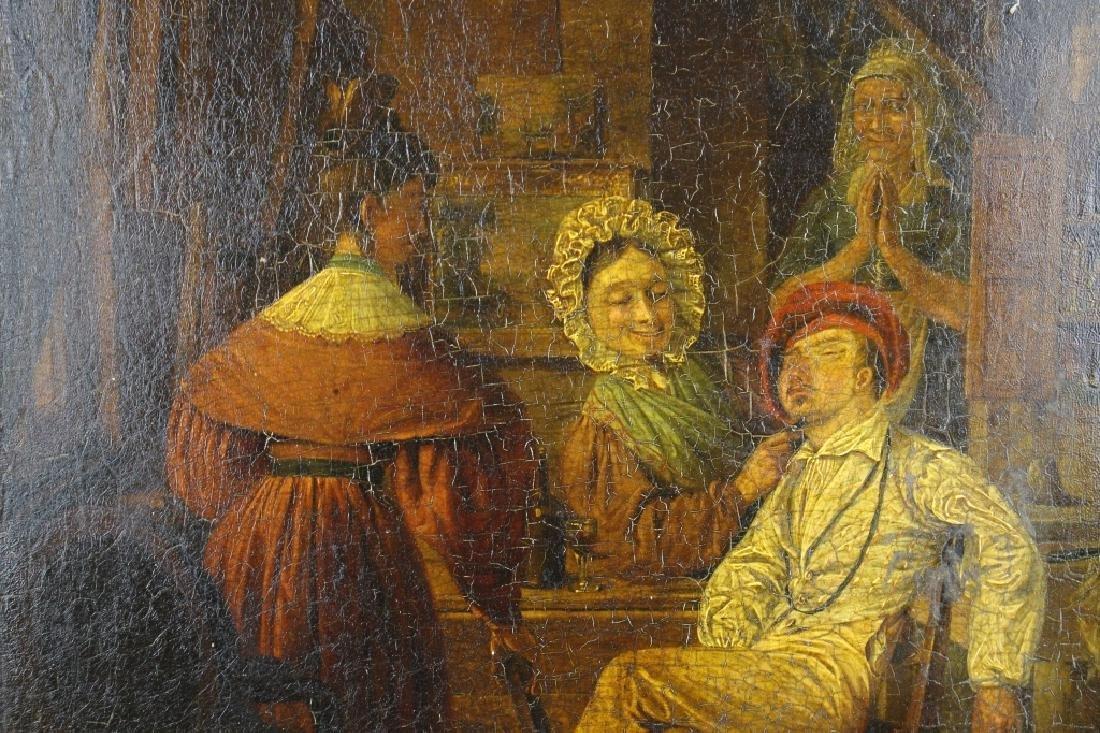19th C. Interior Scene w/ Figures - 2